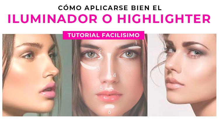 Tutorial sobre como aplicarse el iluminador en maquillaje